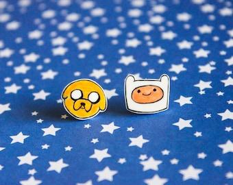 Adventure Time: Finn and Jake Post Earrings