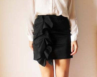 mini skirt with side frill