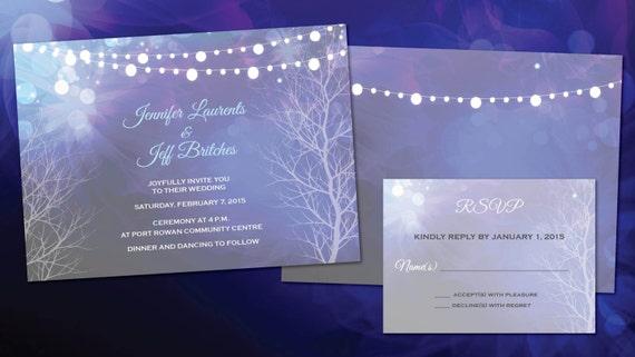 Wedding Patio Lights Invitations Evening Weddings Purple