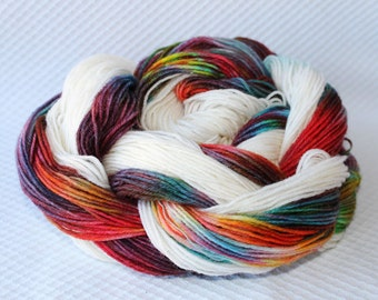 Kaleidoscope  of the hand dyed self striping sock yarn