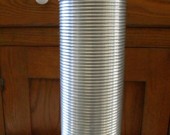 Vintage Aluminum Ribbed King Seeley Thermos Quart Size Made in USA