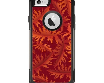 The Vector Fall Red Branches Apple iPhone 6 Otterbox Commuter Case Skin Set