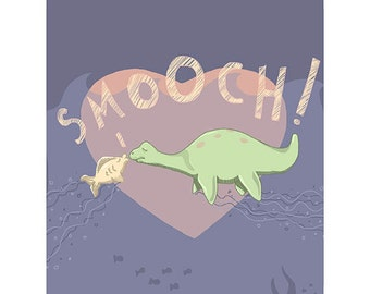 "Nessie Nursery Print - Fish Digital Drawing - 8.5""X11"" - Smooch!"