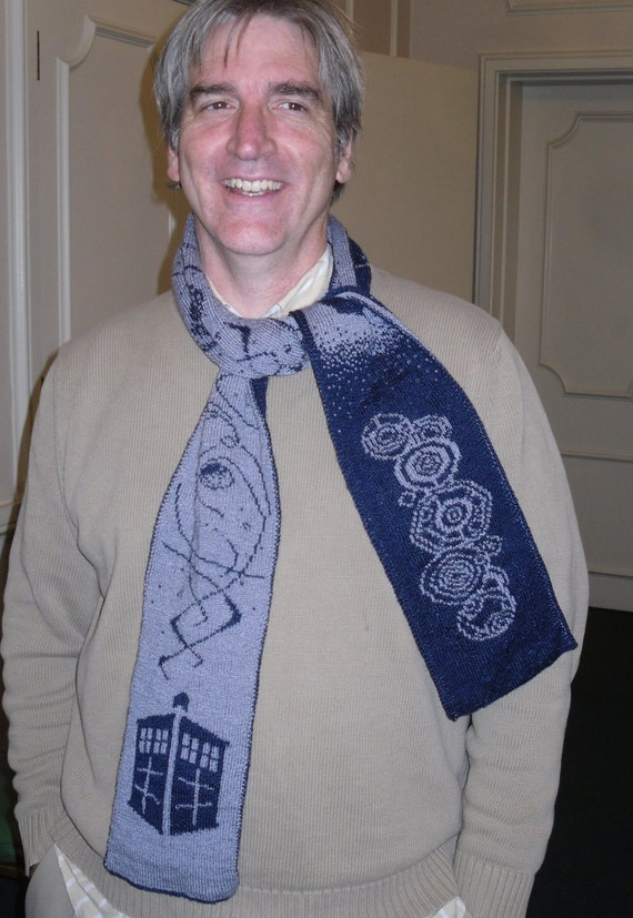 Free Knitting Pattern For Scarves : The Name of the Doctor double knit Doctor Who inspired scarf