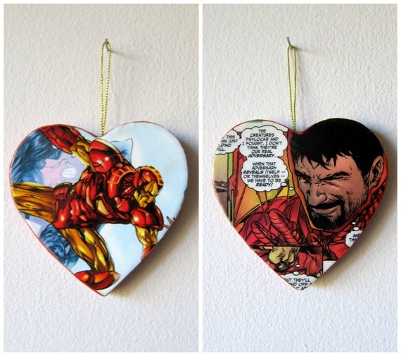 Tony Stark / Iron Man -- One of a Kind Double Sided Comic Book Ornament
