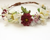 Bridal Headpiece Wildflower Floral Crown