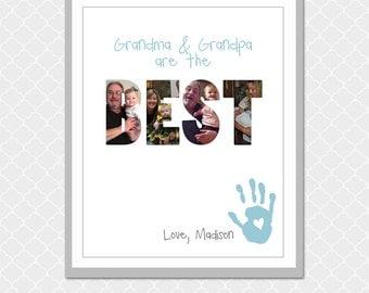 Grandparents are the BEST Picture Word- 8x10 -  Custom Digital Print- Grandma & Grandpa are the BEST Love, grandchild-  EOgdenAve