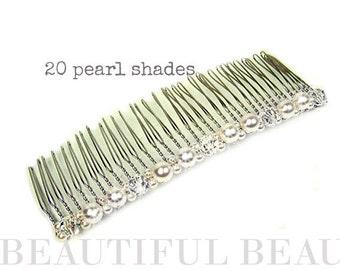 Bridal Hair Comb, Wedding Hair Comb, Pearl Long Back Hair Comb, Bridal Wedding Hair Accessory, Bridesmaid Hair Comb, Accessory - PAST TIMES