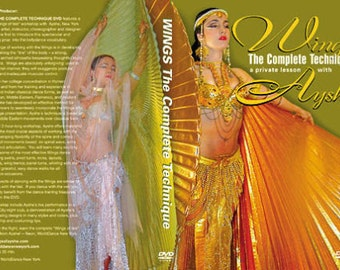 WINGS TECHNIQUE by Ayshe, BellyDance Instructional DVD, Wings of Isis, Wingsofayshe, Belly Dance, Free Dvd with purchase of Ayshe's Wings