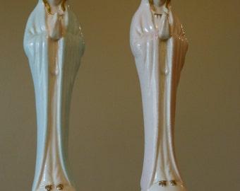Vintage Napco Ceramic Angel Bud Vases
