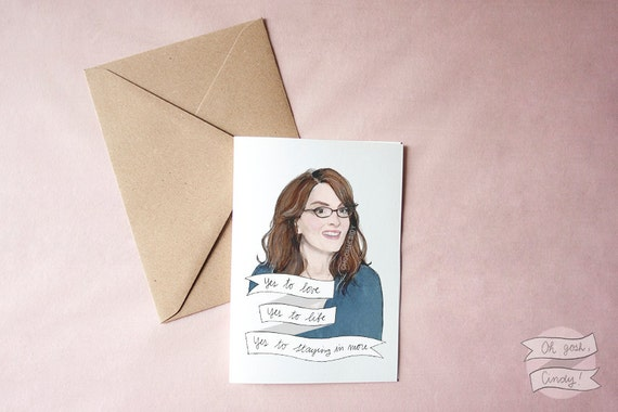 Liz Lemon greeting card 30 Rock Tina Fey
