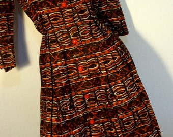 FREE  SHIPPING  1950's Cotton Dress