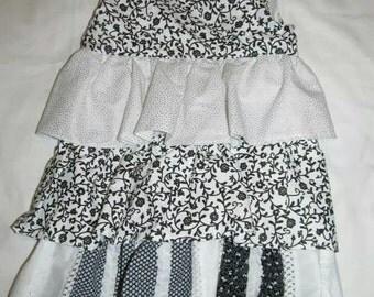 3T Black and White Toddler Dress