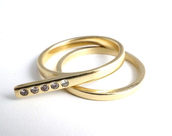 Unique Engagement Ring Set