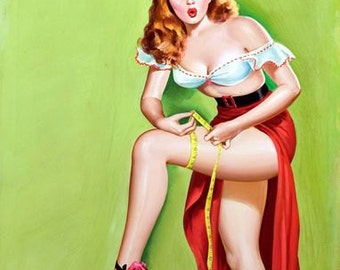 1950's Vintage Pin-Up Girl Poster 7