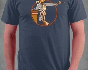 Windup Duelist Robot Tshirt. 100% Cotton Tshirt.