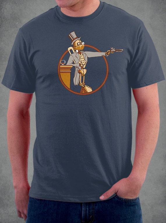 Windup Duelist Robot Tshirt. 100% Cotton Tshirt. steampunk buy now online