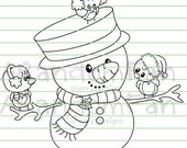 Digital Stamps- Snowman & Company