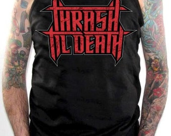 Metal Tank Top - Thrash Till Death Red