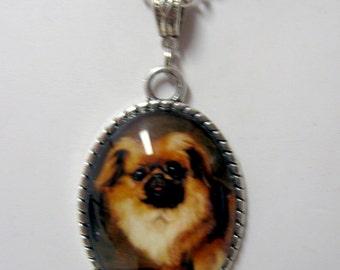 Pekinese pendant with chain - DAP09-518