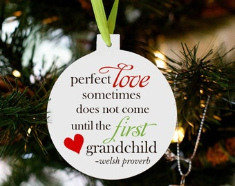 first grandchild Christmas ornament - announcing pregnancy christmas ornament CPLGCO