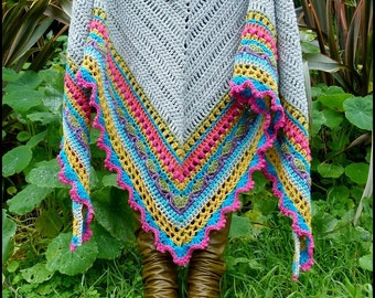 Crochet Shawl Pattern ~ Instant Download ~ Sunday Shawl