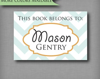 Custom Book Plates Children's Book Labels Baby Shower Book Stickers