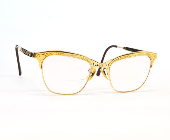 10k Gold Eyeglass Frames : Vintage 1940s-1950s 10k Yellow Gold Gaspari by ...