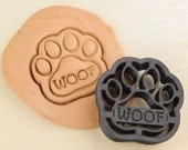 Dog Paw Woof Cookie Cutter Pet Treat