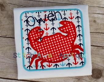 Crab Box Machine Applique Design