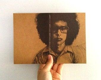 "Mini Journal, ""Omar Rodriguez-Lopez"" / The Mars Volta / Travel Journal / Pocket Journal / Blank Journal / Writing Journal"