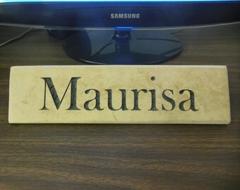 Desk Nameplate Engraved Natural Stone
