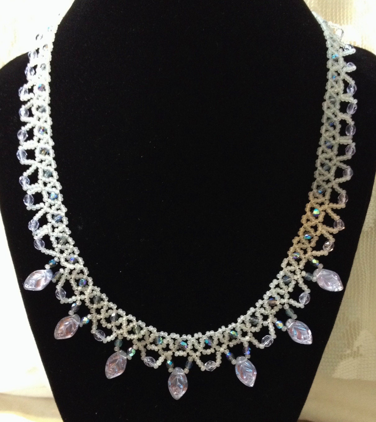 netted necklaces seed bead netting by