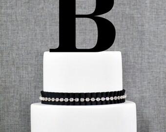 Letter B - Initial Cake Topper, Monogram Wedding Cake Topper, Custom Cake Topper