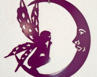 Fairy Moon Wall Art - Metal Art - Home Decor - Make GREAT gifts!