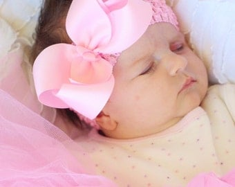baby hair bow, pink hair bow, infant hair bow,baby headband, toddler hair bow, baby bow,head band,hairbow, boutique hairbow