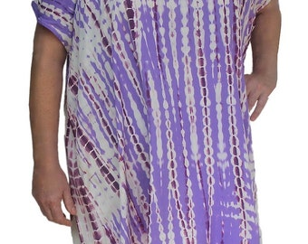 Plus Size Tie Dye Tunic Top for Women | Open Shoulder Tunic Top Clothes,  One Size (1x-3x), Plus Size Clothing for the Full Figure Woman
