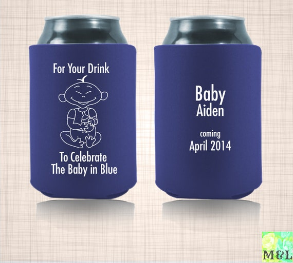 baby shower gift can koozie for your drink to celebrate the baby