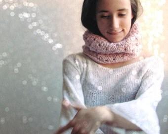 Light pink scarf /  Alpaca wool / Block color / Winter accessories unisex / winter scarf