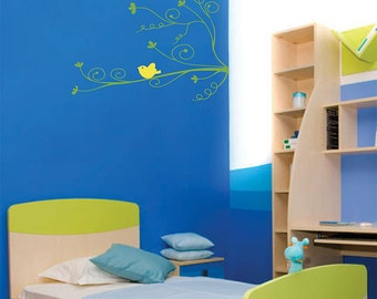 Curly Spring Branch - vinyl wall decal