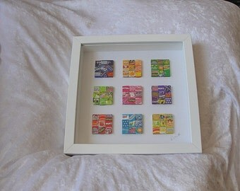 Colorful picture of candy wrappers candy wrapper picture