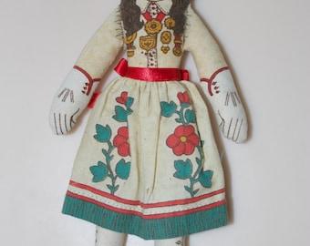 """Annie Oakley Hallmark Cloth Rag Doll February 1979 6"""""""