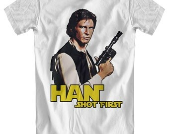 Han Shot First - Star Wars Inspired T-Shirt