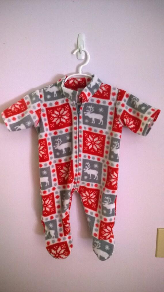 Warm and Fuzzy Christmas Footie Pajamas
