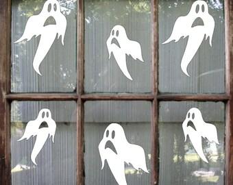 ghost halloween decal halloween sticker halloween window decal ghost decal halloween decoration - Halloween Window Decals