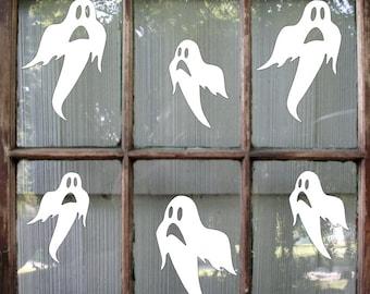 Ghost Halloween Decal / Halloween Sticker / Halloween Window Decal / Ghost Decal / Halloween Decoration