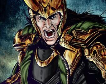 Loki 12x18 Original Art Print