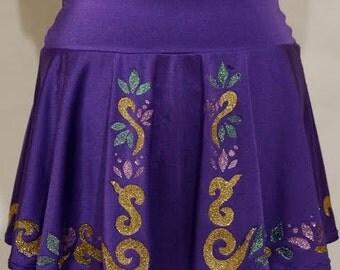 Rapunzel Glitter Running Skirt:
