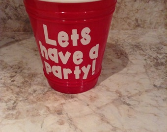 Personalized Red Solo Cup, reuseable