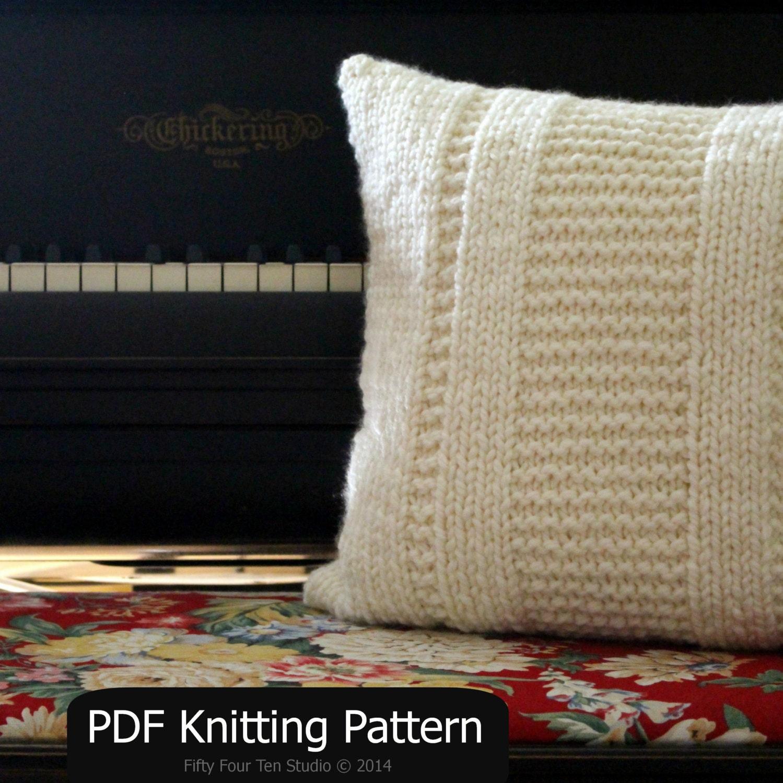 Nautical Cushion Knitting Pattern : Pillow KNITTING PATTERN / Cushion / Quick & Easy Knit / Super